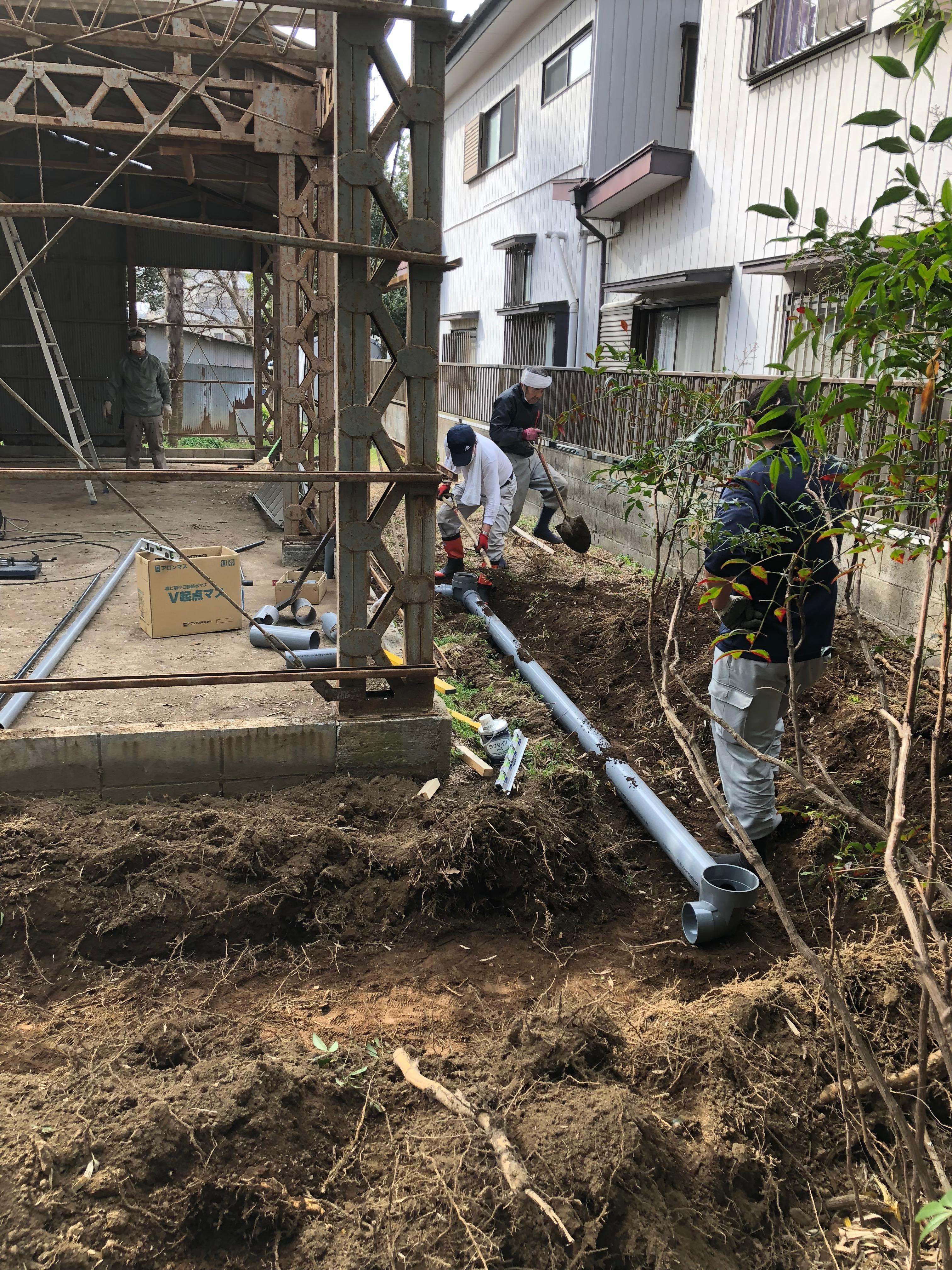 外構工事02 -給排水工事-
