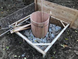 井戸の基礎作り