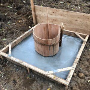 井戸コンクリート打設